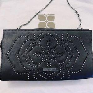 Crossbody bead ornaments leather bag